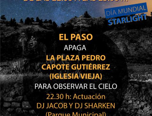 EL SÁBADO 13 DE 22:00 A 23:00 HORAS CELEBRAMOS EL DÍA MUNDIAL STARLIGHT, VEN Y OBSERVA EL CIELO EN EL PASO. @ELPASO @STARLIGHT #CIELOSDELAPALMA