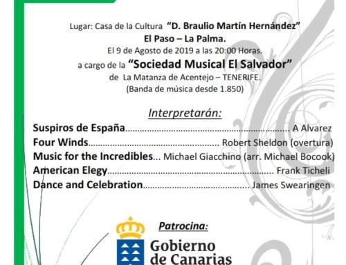 Concierto en la Casa de la Cultura Braulio Martín Hernández de El Paso
