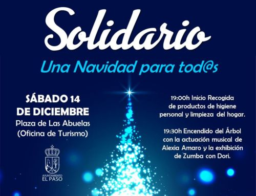 El Árbol Solidario de El Paso vuelve a brillar en Navidad